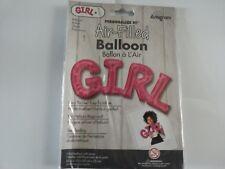 "Pink Girl Air Fill 22"" Shape Foil Balloon Baby Shower Balloons"