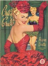 VINTAGE UNCUT 1951 BETTY GRABLE PAPER DOLLS HD LASER REPRODUCTION~LO PR~HI QU