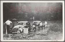 Vintage Car Photo 1936 Dodge & Chevrolet on Auto Ferry Boat Dock 730282
