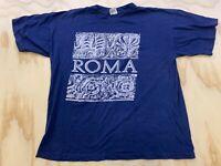 CROSS STAR MEN SIZE XL ROMA GRAPHIC BLUE SHORT SLEEVE T SHIRT EUC