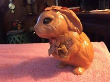 Vintage Decorative Ceramic Brown Decorated Bunny Rabbit Figurine