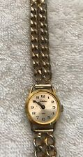 Brushed Gold Swiss Made missing Glass Vintage Chateau Wrist Watch Gold Tone