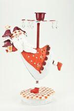 chandelier Père Noël rouge/blanc avec acrylglasprismen