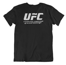 Mens T Shirt UFC Training Fighter Fit Training MMA Muscle Box Workout Casual