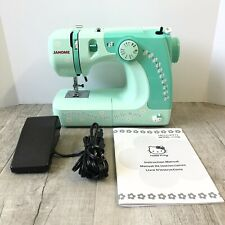 Janome Hello Kitty Sewing Machine Model 11706 - Mint Green - Tested