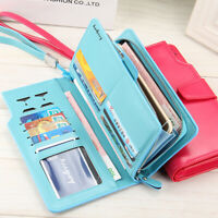 NEW Womens Leather Wallet Long Card Holder Clutch Large Capacity Purse US STOCK