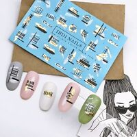 IBDI Words nail decals, Manicure and pedicure sliders, Nail decal / slider