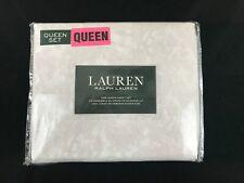 Ralph Lauren Queen 4 piece cotton beige paisley Sheet Set New