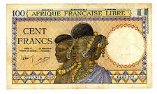 French Equatorial Africa … P-8 … 100 Francs … ND(1941) … *F+*