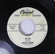 Pop Promo 45 Onesime Grosbois - The Sun / The Left Bank On Capitol