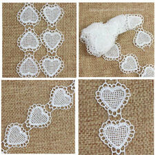 3Yds Heart Shape Off White Polyester Lace Ribbon Trim Edge Trimming Sewing Craft