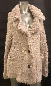 M ABERCROMBIE $208 Oatmeal Gia Sherpa Teddybear Fuzzy Warm Jacket Coat Cardigan