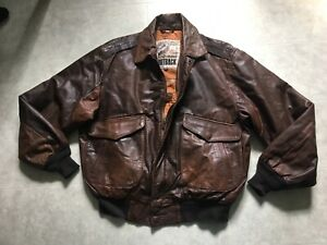 Vintage 1990s Cooper Genuine Leather Jacket  Size 44 medium  Brown Bomber Coat