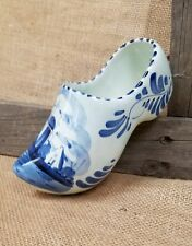 Vintage Delft ceramic large Dutch Holland shoe wall hanging decor hand painted w