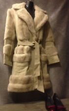 Vintage London Leathers by Lilli Ann Beige Fur Coat with Belt