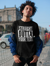 Straight Outta Custom Text T-shirt Personalised Gift Funny Tee Top ALL SIZES