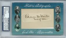 EDWIN M STANTON CIVIL WAR SECRETARY OF WAR SIGNED CUT AUTO PSA ~Abraham Lincoln~