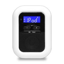 NEW Pyle PICL36B iPod/iPhone Speaker Docking Station FM Radio Alarm Clock MP3-In