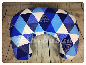 NEW Baby Nursing Pillow Breastfeeding Maternity Removable zippered cover blue