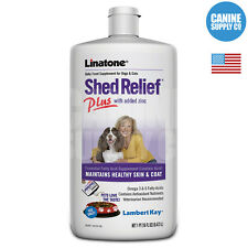 Lambert Kay Linatone Shed Relief Plus Dog Supplement (Skin + Coat), 16-Ounce