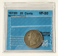 1872H NL 20 Cents Coin Victoria - VF20 #0738