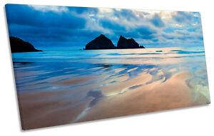 Holywell Bay Cornwall Beach PANORAMIC CANVAS WALL ART Print Picture