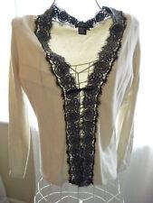 Etcetera Long Sleeve One Button Lightweight Sweater