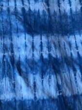 "Shibori Tie Dye Cotton Fabric Indigo Handmade Cotton fabric 31"" 79cm width"