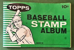 1961 TOPPS BASEBALL STAMP ALBUM 10 CENT