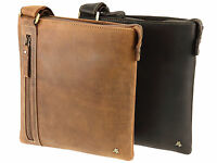Visconti Tablet Friendly Real Hunter Leather Messenger Shoulder Bag - 16111B