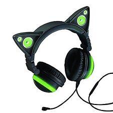 Axent Wear Cat Ear Headphones W/led Green 990637