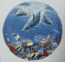 "Dolphin Ocean Fish 1 pc 7-1/2""  Waterslide Ceramic Decal Xx"