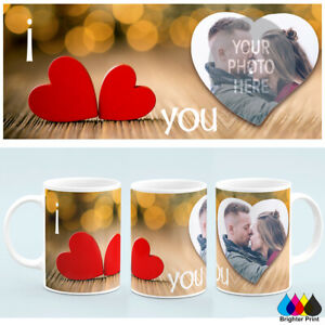 Personalised Valentines Day Photo Mug Cup Custom Image +Free Gift box