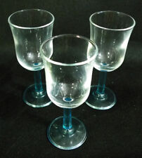Tulip Shaped Small Clear Wine Glass Cordial Glassware Set of 3