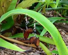 GORGEOUS unique brown colour cow bone fashion dangle AFRICA MAP drop earrings