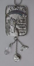 r Those who don't in magic won't find I BELIEVE IN UNICORNS Car charm ornament