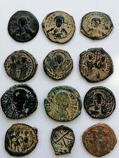 Lot of 12 Large Byzantine Follis 300-1400 Ad
