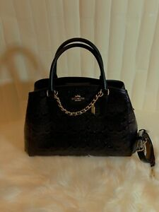 Coach Small Margot Embossed Patent