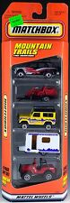 Matchbox Mountain Trails 5 Pack 1997 NEW Isuzu, Land Rover Ninety, Caravan, Jeep