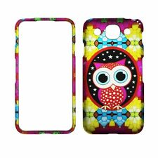 Colorful Star Owl For  LG Optimus G Pro E980 Rubberized Feel Case Cover