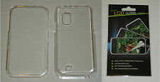 Clear Hard Plastic Case & Screen Protector For Samsung Fascinate i500