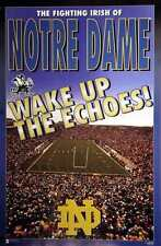 """Notre Dame Fighting Irish """"Wake Up the Echoes Poster"""