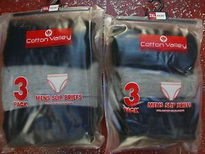 3 PACK SLIP BRIEFS FOR BIG MEN FROM COTTON VALLEY 2XL,3XL,4XL,5XL,6XL,7XL,8XL
