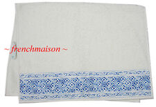 D. Porthault HAND/GUEST Towel Blue White Classic Elegant French Paris New