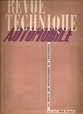 REVUE TECHNIQUE AUTOMOBILE 32 RTA 1948 ETUDE MACK 6X4 10 TONNES
