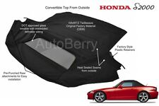 Honda S2000 HAARTZ Material Convertible Soft Top W Defroster Glass Window 02-08