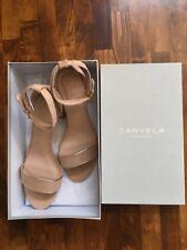Brand New with Box: Kurt Geiger Suede Carvela Gospel Sandals, Nude - Worth $100