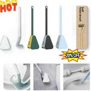 Wall Mounted Toilet Brush Golf Brush Head Bathroom Access Cleaning Corners Set