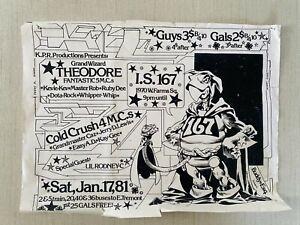 Old School Rap Party Flyer Print Memorabilia