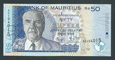F.C. MAURICIO MAURITIUS , 50 RUPIAS 1999 , S/C ( UNC ) , P.50a .